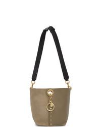 graue Shopper Tasche aus Wildleder von See by Chloe