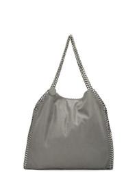 graue Shopper Tasche aus Wildleder von Stella McCartney