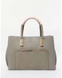 graue Shopper Tasche mit Reliefmuster von Lipsy