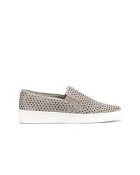 graue Slip-On Sneakers aus Leder von MICHAEL Michael Kors