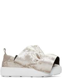 graue Slip-On Sneakers aus Leder von MSGM