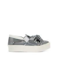 graue Slip-On Sneakers aus Leder von N°21