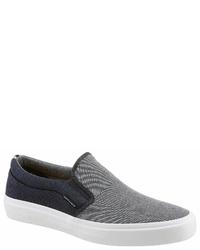 graue Slip-On Sneakers aus Segeltuch von Jack & Jones