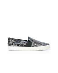 graue Slip-On Sneakers mit Schlangenmuster von Vince
