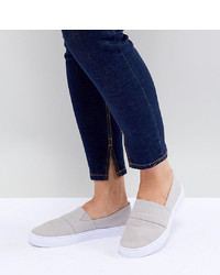 graue Slip-On Sneakers von ASOS DESIGN