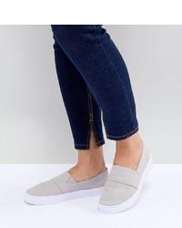 graue Slip-On Sneakers von ASOS DESIGN