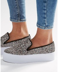 graue Slip-On Sneakers von Asos
