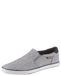 graue Slip-On Sneakers von Tom Tailor