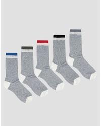 graue Socken von Asos