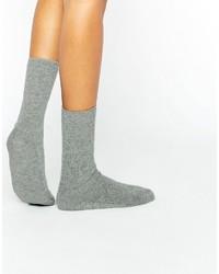 graue Socken von Johnstons of Elgin