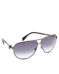 graue Sonnenbrille von Alexander McQueen