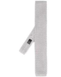 graue Strick Krawatte