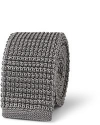 graue Strick Krawatte von Lanvin