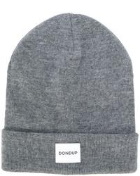 graue Strick Mütze von Dondup