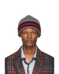 graue Strick Mütze von Gucci