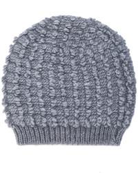 graue Strick Mütze