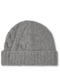 graue Strick Mütze von Oliver Spencer