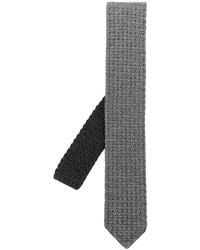 graue Strick Wollkrawatte von Ermenegildo Zegna