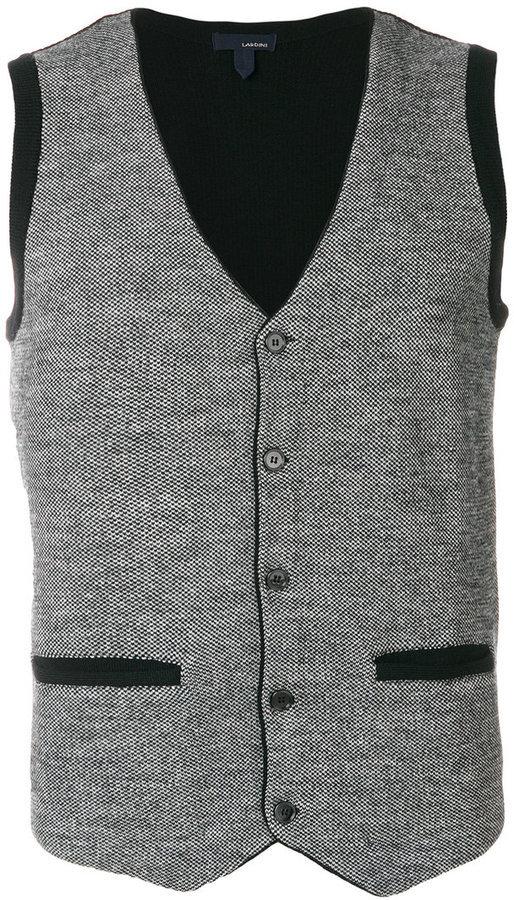 graue Strick Wollweste von Lardini