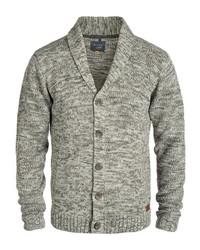 graue Strickjacke mit einem Schalkragen von BLEND