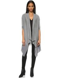 graue Strickjacke mit einer offenen Front von DKNY
