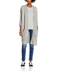 graue Strickjacke mit einer offenen Front von Vero Moda