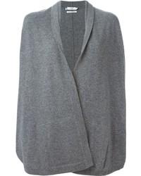 graue Strickjacke mit einer offenen Front von Vince