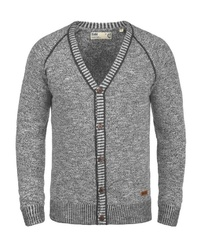 graue Strickjacke von Solid