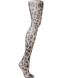 graue Strumpfhose mit Leopardenmuster von Acne Studios