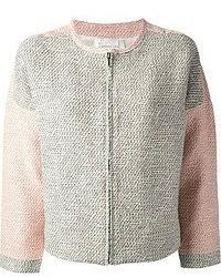 graue Tweed-Jacke von Derek Lam