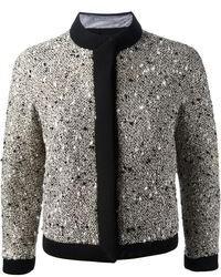 graue Tweed-Jacke von Giambattista Valli
