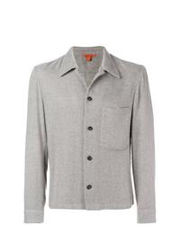 graue Tweed Shirtjacke von Barena