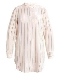 graue vertikal gestreifte Bluse mit Knöpfen von Jdy