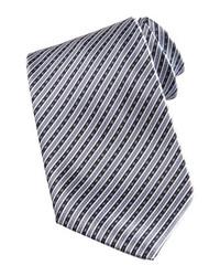 graue vertikal gestreifte Krawatte