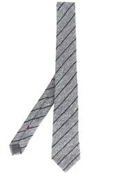 graue vertikal gestreifte Krawatte von Brunello Cucinelli