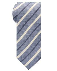 graue vertikal gestreifte Krawatte von Eterna