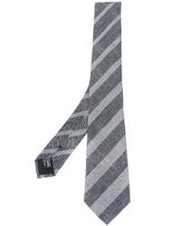 graue vertikal gestreifte Krawatte von Giorgio Armani