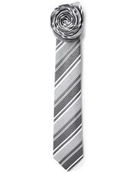 graue vertikal gestreifte Krawatte von Jil Sander