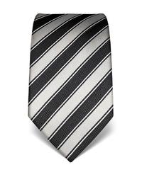 graue vertikal gestreifte Krawatte von Vincenzo Boretti