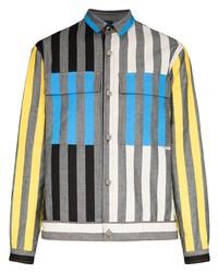 graue vertikal gestreifte Shirtjacke von Sunnei