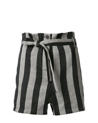 graue vertikal gestreifte Shorts