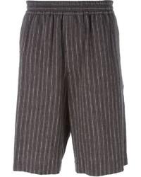 graue vertikal gestreifte Shorts von MSGM