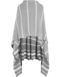 graue vertikal gestreifte Stola von Madeleine Thompson