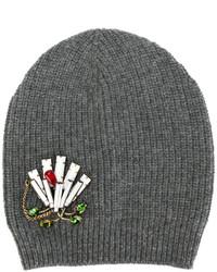 graue verzierte Mütze von No.21