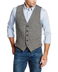 graue Weste von Harris Tweed