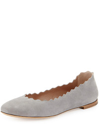 graue Wildleder Ballerinas