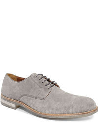 graue Wildleder Derby Schuhe