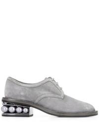 graue Wildleder Derby Schuhe von Nicholas Kirkwood