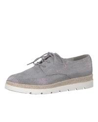 graue Wildleder Derby Schuhe von s.Oliver