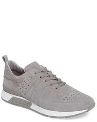 graue Wildleder Niedrige Sneakers